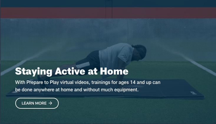 NFL Stay Active at Home